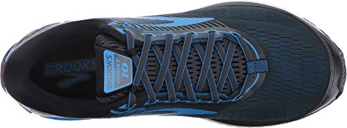 Brooks Men's Ghost 10 Ebony/Metallic Charcoal/Electric Brooks Blue 9 D US