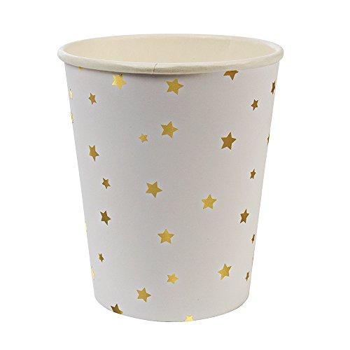 Meri Meri, Gold Star Confetti Cups, Birthday, Party Decorations, Dinnerware - Pack of 8