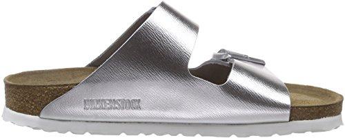Birkenstock Arizona Narrow Fit - Liquid Silver Leather 1000062 Womens Sandals 37 EU by Birkenstock (Image #6)