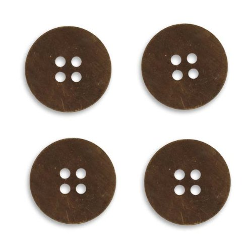 Vintaj Natural Brass Altered Blank Stamping Small Button 19mm (4)
