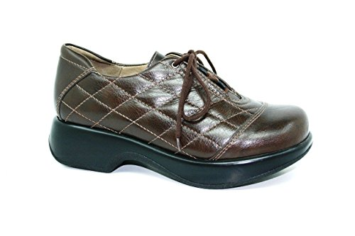 Dromedaris Women's Merlin Lace-up shoe, Brown Leather, EU 38M by Dromedaris