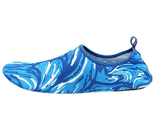 Vatten Skor Vågbassäng Strand Simma Aqua Strumpor Yoga Man Kvinna Utövar Sport Glida På För Santimon Färgglada Blå