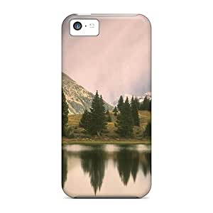 Tpu Case Cover For Iphone 5c Strong Protect Case - Storm Over Little Molas Lake Colorado Design