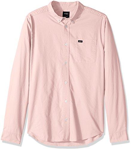RVCA Men's That'll Do Oxford Long Sleeve Woven Shirt, Gum, XXL