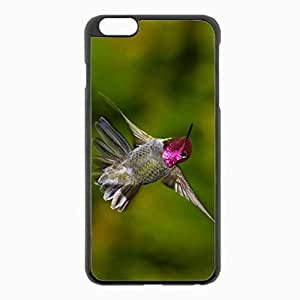 iPhone 6 Plus Black Hardshell Case 5.5inch - hummingbirds flap wings Desin Images Protector Back Cover