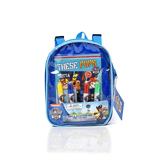 PAW Patrol Coloring and Activity Set, Includes Markers, Stickers, Mess Free Crafts Color Kit in Travel Backpack, for Toddlers, Boys and Kids