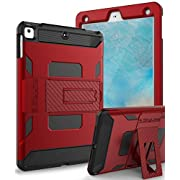 SKYLMW Case for iPad 5th/6th Generation,Heavy Duty Protection with Kickstand Stand Shockproof Protective Cases Cover for Apple iPad 9.7 inch 2017/2018,Air,Air 2,Pro 9.7,Red/Black