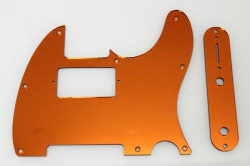 Humbucking Orange Mirror Pickguard Set Fits Fender Tele Telecaster