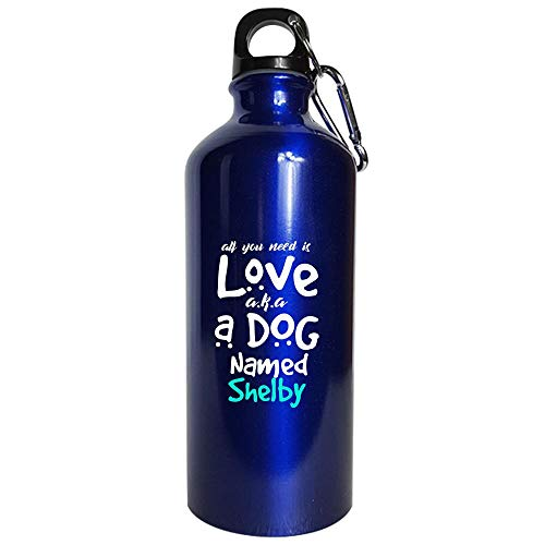 A Dog Named Shelby Puppy Lover - Water Bottle Metallic Blue