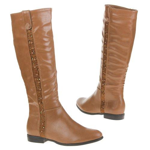 Ital-Design - Botas plisadas mujer Beige - Beige - Camel