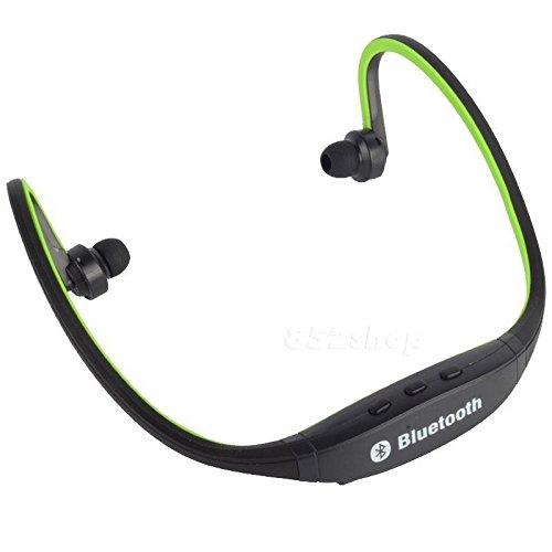 Price comparison product image Bluetooth Wireless Headset Stereo Headphone Earphone Handfree Sport Universal (Green)