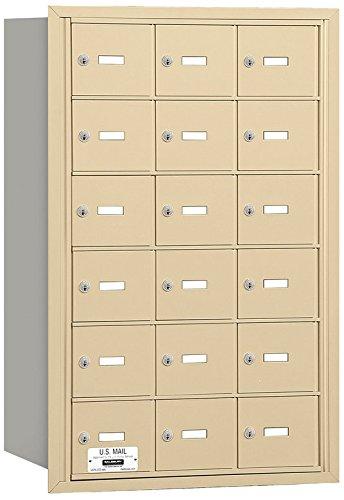 Salsbury Industries 3618SRU 4B Plus Horizontal Mailbox, 18 A Doors, Rear Loading, USPS Access, Sandstone