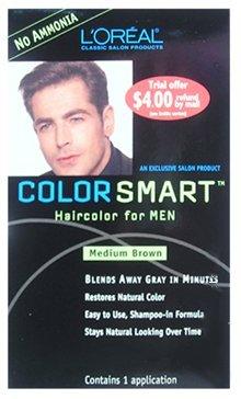 LOREAL Color Smart Couleur de cheveux pour les hommes brun moyen (une application)