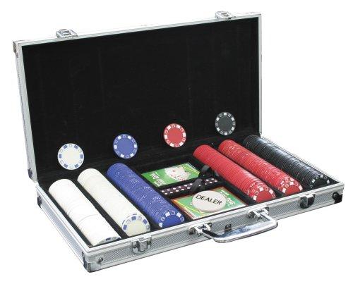 UPC 827912078602, Jackpot Poker Deluxe 300-Count Casino Poker Chip Set in Aluminum Case