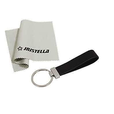 Jnjstella Genuine Leather Key Fob Chain Ring Keychains Black Size: One Size