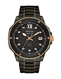 Bulova Men's Quartz Stainless Steel Dress Watch (Model: 98D128)