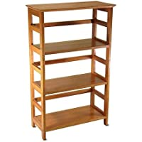 Beechwood 3-Shelf Open Bookcase, Honey Pine
