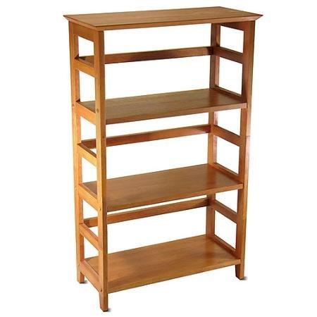 Beechwood 3-Shelf Open Bookcase, Honey Pine - Honey Pine Bookcase