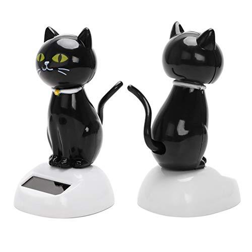 FAgdsyigao Solar Powered Shaking Cat Kitten Pattern Doll Toy, Car Ornament Decoration Handicraft Swing Toys 3#