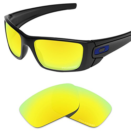 Tintart Performance Lenses Compatible with Oakley Fuel Cell Polarized Etched-Golden Yellow