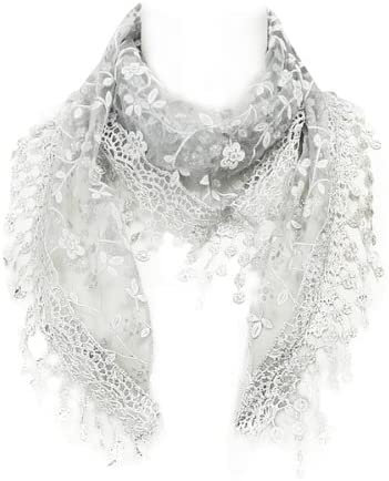 Wrapables Embroidered Floral Triangle Scarf