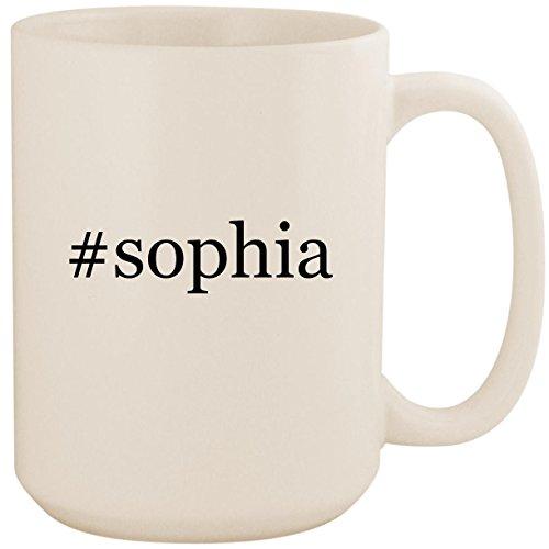 #sophia - White Hashtag 15oz Ceramic Coffee Mug Cup