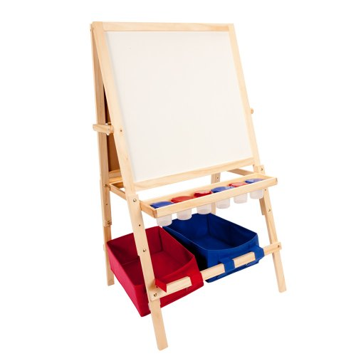 First Impressions Multi-Use Children's Wood Art Easel w/ Pai