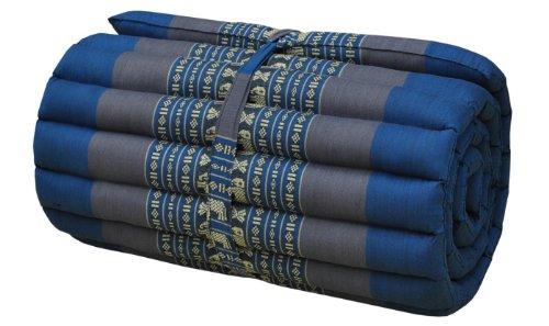 Thai mattress small size (55/180), blue/grey, relaxation, beach cushion, pool, meditation, yoga (81713) by Wilai GmbH