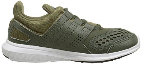 Adidas Performance Hyperfast 2.0 K Zapatilla deportiva (niño pequeño / niño grande) Cargo/Grey/Green