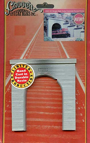 Chooch Enterprises Ho Scale Single High Cube Concrete Tunnel Portal #8322