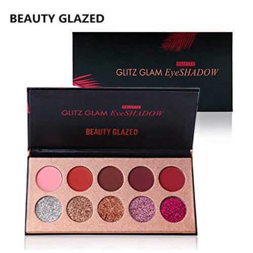 BEAUTY-GLAZED-Professionnel-10-Couleurs-Beaute-Glitter-Palette-de-Ombre-a-Paupiere-Eyeshadow-Shimmer-Fard-a-Paupiere-Mat-Brillant-Maquillage