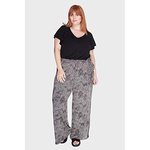 Calça Pantalona Rojas Plus Size Preto-48