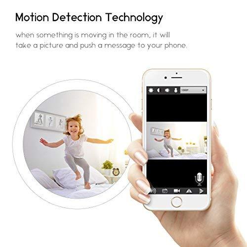 icemoon Wireless Security Hidden Camera HD Live Video Recording Home Surveillance Cam