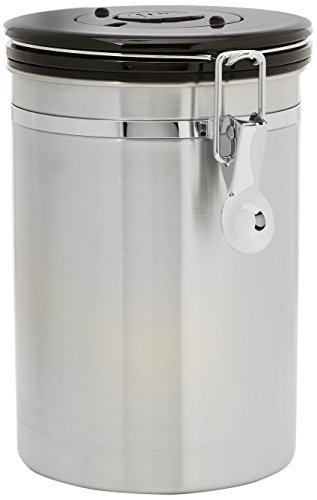 Friis 16-Ounce Coffee Vault, Stainless Steel (Coffee Airtight)