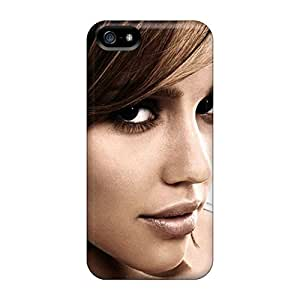 Hot Fashion Ifl5630ZlEM Design Case Cover For Iphone 5/5s Protective Case (jessica Alba)