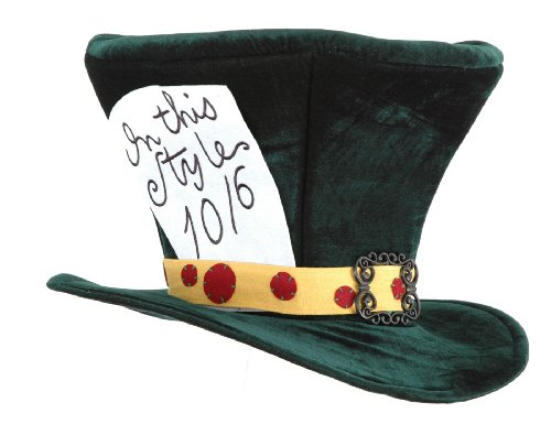EA5402 Madhatter Licensed Topper Costume Hat (Alice In Wonderland Men Costumes)