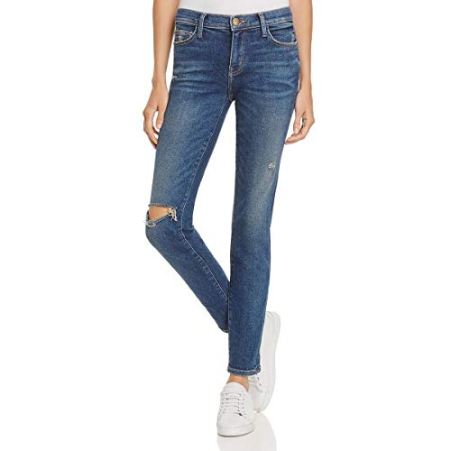 Current/Elliott Womens The Stiletto Denim Destroyed Skinny Jeans Blue 26