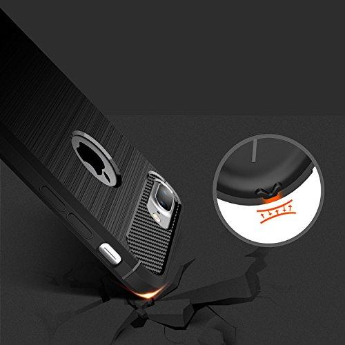 Hülle iPhone 7 Plus, HICASER Rugged Armor Case Ultraslim Flexible TPU Anti-rutsch Drop Resistance Handytasche Schutzhülle für iPhone 7 Plus 5.5-Zoll Navy blau