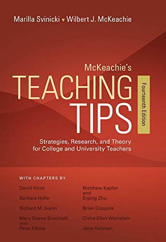 McKeachie's Teaching Tips (The Best 361 Colleges)