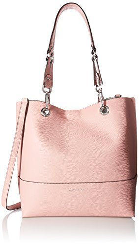 Calvin Klein womens Calvin Klein Sonoma Faux Leather Reversible North/South Tote, pink, One Size