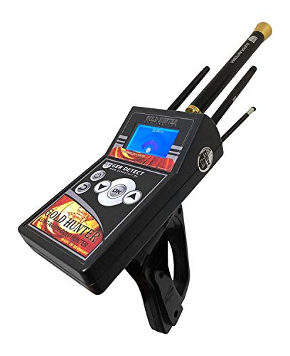 GER DETECT Gold Hunter Professional Geolocator Long Range Metal Detector - Underground Depth Scanner, Geolocation Tracker & Distance Targeting for Gold, Silver, Coins, Jewelry, Cavity, Larger Treasure