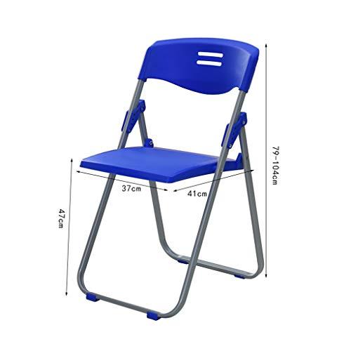 Kontorsstol hopfällbar kontorsstol blå möte mottagningsstol datorstol vardagsrum balkong pall stol