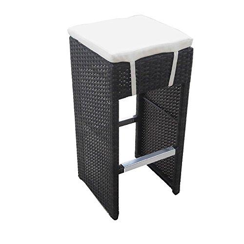 Set of 2 Hampton Woven Wicker Outdoor Chair/Bar Stool - Espresso