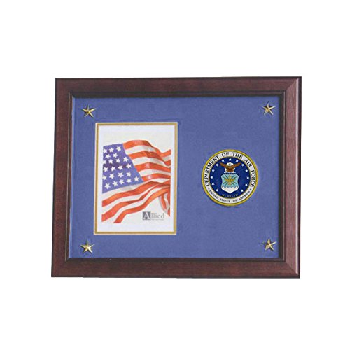 Allied Frame United States Air Force Vertical Picture Frame with Medallion and (Air Force Photo Frame)