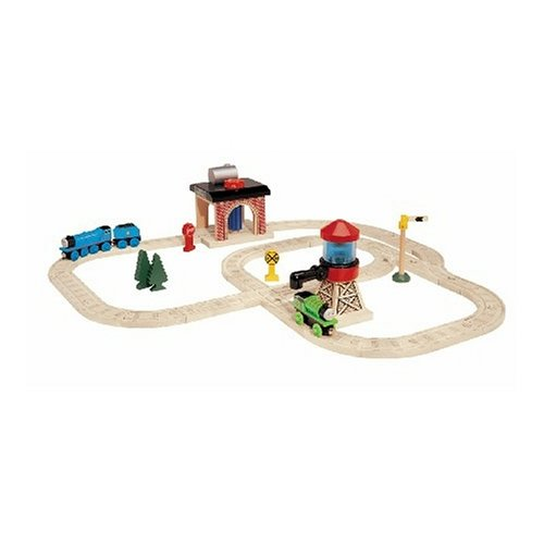 RC2 / Learning Curve Thomas Wooden Railway Sodor Engine Wash Set (Engine Sodor Wash)