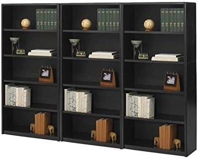 Safco 5-Shelf ValueMate Grey Economy Steel Bookcase