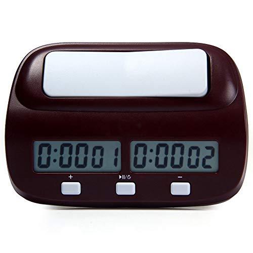 Ajedrez Reloj Cronómetro, Digital Profesional De Ajedrez Juego De Reloj Y Temporizador con Alarma, Bono Y El Retardo