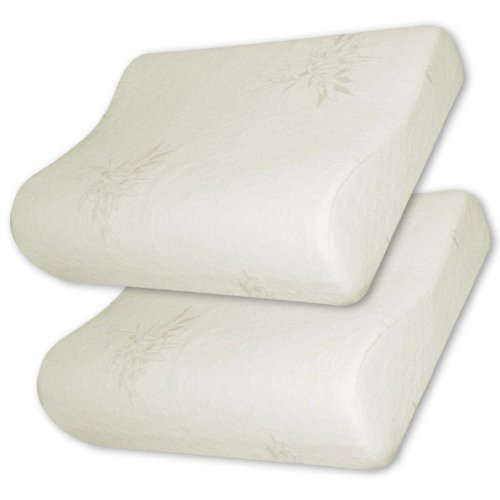 Memory Foam Contour Pillow with Premium Natural Rayon - 2pcs SET