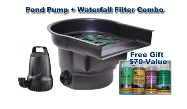 Pond Biological Waterfall Filter w// 17 inch wide Spillway Atlantic BF1250