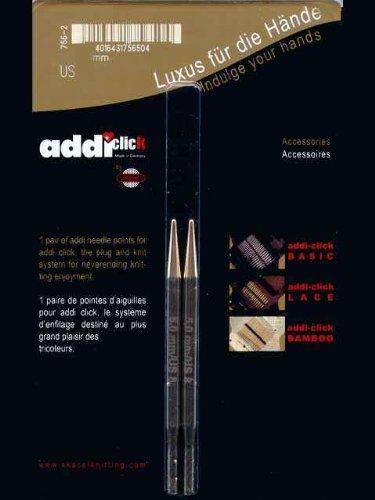 addi Click Interchangeable Knitting Needle Tips Short Rocket Lace Set 3.25 inch (8cm) US 07 (4.5mm)